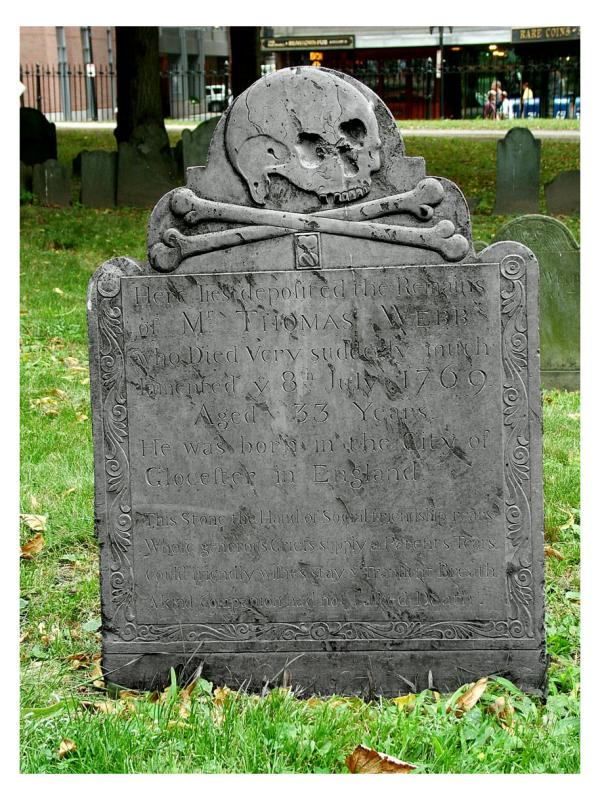 HeadstoneOldCemeteryBoston